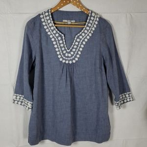 Boden Tops - Boden Long Island Chambray Tunic Top